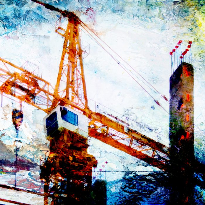 Construction crane artwork