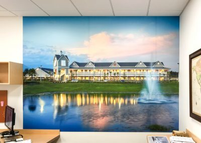 Construction art - Company project wall wrap 03