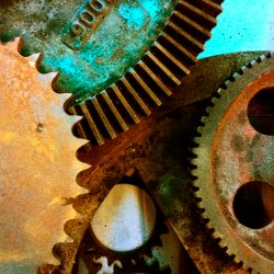 Construction art - gears